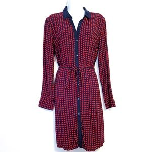 Tommy Hilfiger | Red Blue Square Shirt Dress M
